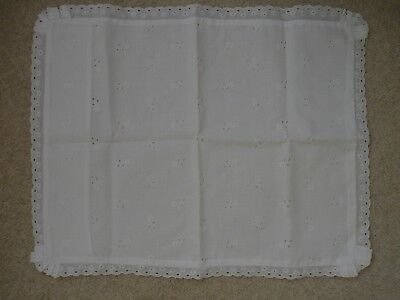 Vintage Broderie Anglaise/Lace Baby/Doll Pillowcase Cot/Pram