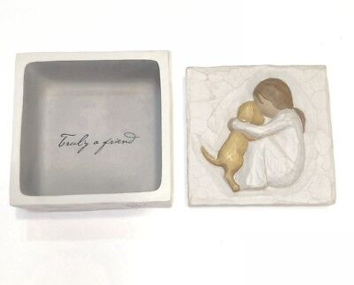 Willow Tree Angel Trinket Keepsake Box Susan Lordi Truly a Friend Dog 26603