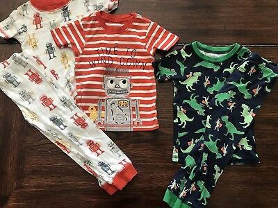 3T Carters Brand Boys PJs, Robots And Knights!