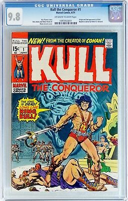 Kull the Conqueror #1 (Jun 1971 Marvel) CGC 9.8 NM/MT   Origin & 2nd appearance