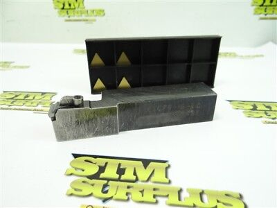 """Carboloy Indexable Tool Holder Ctcpr-16-3C 1"""" Shank + 4 New Inserts"""