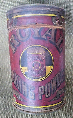 Antique Royal Baking Powder Tin Can with paper label