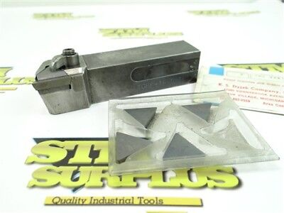 """Kennametal Indexable Tool Holder 1"""" Shank Ktgpr-164D + 4 New Carbide Inserts"""