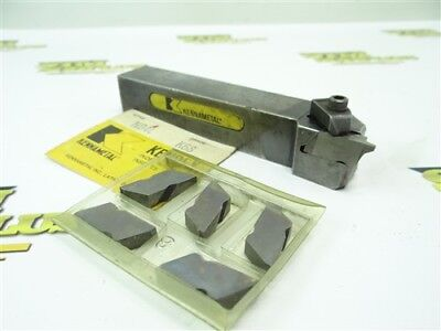 Kennametal Indexable Top Notch Tool Holder Model Nsl-164D + New Carbide Inserts