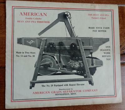 Early 1900's AMERICAN BEAN AND PEA THRESHER Promo Booklet Minneapolis MN