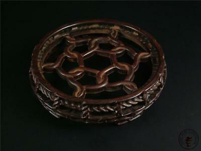 Large Antique Old Chinese Rosewood Carved Presentation Display Stand Base