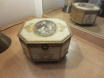 "Vintage Ardco Old World Look Vintage Wooden Music Box.   ""good Night My Love"""