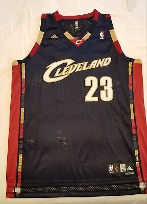 detailed look 81676 55429 CLEVELAND CAVALIERS NBA LeBron James Sewn Adidas Jersey Navy ...
