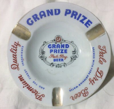 Rare Vintage Grand Prize Pale Dry Beer Advertising Promotional Ashtray