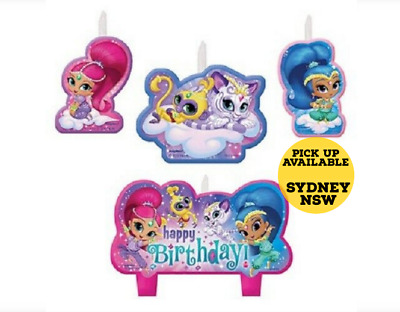Shimmer and Shine Birthday Candles Cake Toppers Decoration Supply