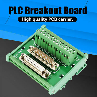 DB25 DIN Rail Mount Interface Module Male/Female Connector Breakout Board