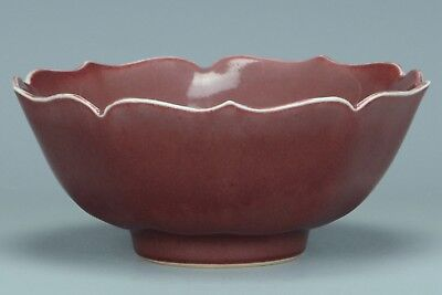 Fine Chinese Red Glazed Bowl