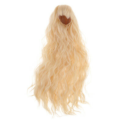 1/3 BJD Dolls Long Curly Wig Golden Hair for DOD MSD DZ SD Dolls Accessory