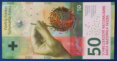 *One Swiss Switzerland New Design 50 Francs UNC Uncirculated Banknote Currency*