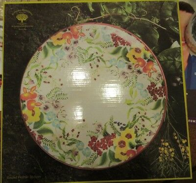 BRAND NEW IN BOX gorgeous 36.5cm Sweet Pea round platter Maxwell and Williams