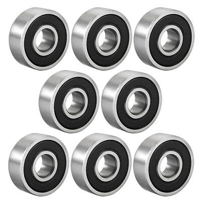Deep Groove Ball Bearing 606-2RS Double Sealed 6mmx17mmx6mm Carbon Steel 8Pcs