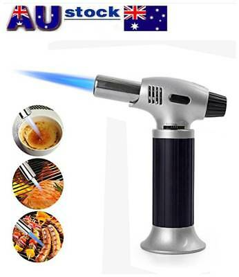 Refillable Gas Butane Blow Torch Jet Lighter Culinary Solder Cooking Baking chef
