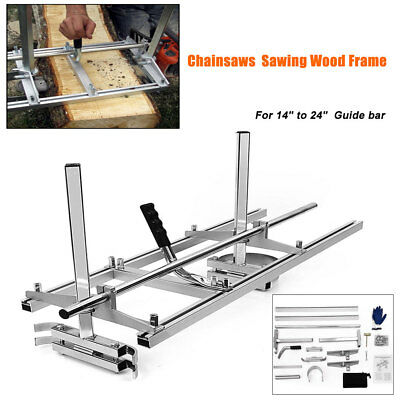 """Fit 14"""" - 24"""" Chainsaw Guide bar Chain Saw Mill Log Planking Lumber Cutting US"""