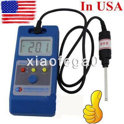 WT10A LCD Tesla Meter Gaussmeter Surface Magnetic Field Tester + Metal prob USA