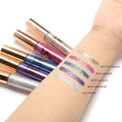 FOCALLURE Glitter Waterproof Makeup Long Lasting Shimmer Liquid Eyeliner Beauty""
