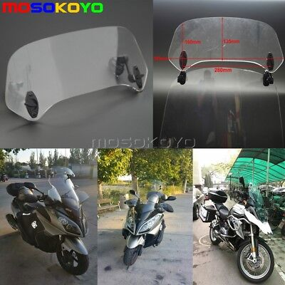 Clamp-On Variable Windscreen Spoiler Blade Windshield Extension For Honda BMW