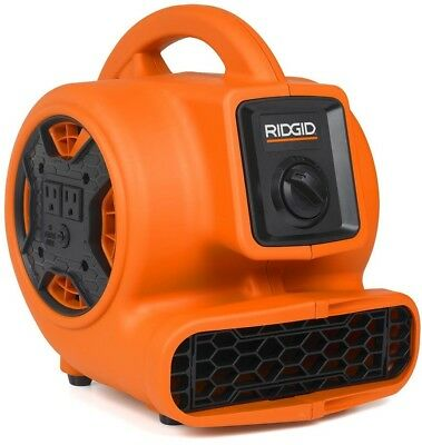 Ridgid Blower Fan Compact Air Mover 600 CFM Daisy Chains Adjustable Vent