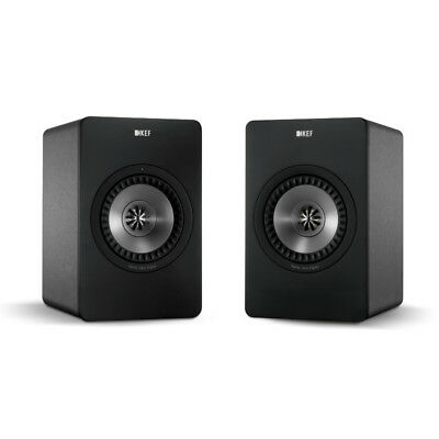 KEF X300A Active Bookshelf Speakers - Gunmetal Finish