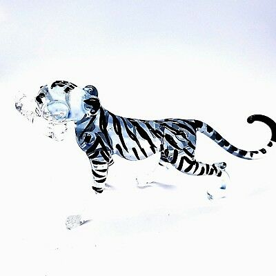 Figurine Miniature Hand Blown Glass Tiger Animal Collectibles Handcraft Art