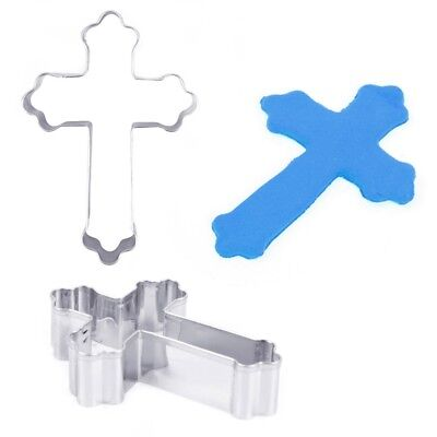 Stainless Steel Cross Shape Cookie Cutter Fondant Cake Decor Kitchen Baking Tool