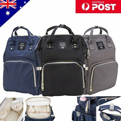 Waterproof Large Multifunctional Baby Diaper Nappy Backpack Mummy Changing Bag
