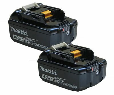 MAKITA LXT BATTERY BL1840 B 18V 4Ah LI-ION With Charge Indicator TWINPACK