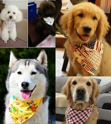 Mixed Pet Bandana Triangle Bibs Scarf Small Dog Cat Collar Grooming Accessories