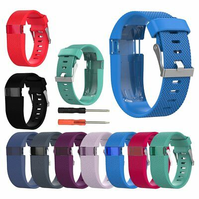 Silicone Replacement Watch Band Bracelet Wrist Strap For Fitbit Charge HR W/Tool
