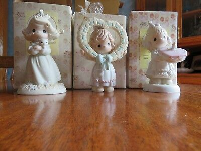 Lot of 3 Precious Moments  Figurines-490245, 163686, 524395