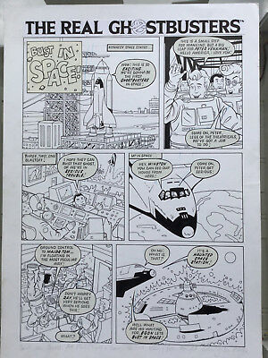 Original Real Ghostbusters comic artwork Phil Elliott