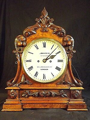Walnut Double Fusee Bracket Clock C1860.