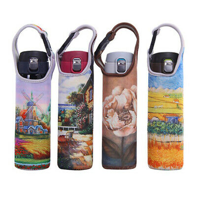 400-600ml Water Bottle Cup Holder Sleeve Neoprene Insulated Cover Carrier
