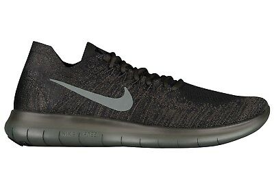 7298fe1a78 Nike Free RN Flyknit 2017 Mens 880843-012 River Rock Running Shoes Size 12
