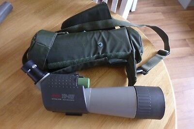 Used Kowa T5-611 angled spotting scope with 20x eye piece and all weather case.