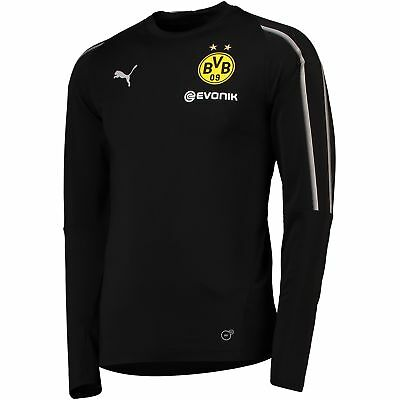BVB Borussia Dortmund Training Sweatshirt Black Mens PUMA