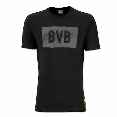 BVB Borussia Dortmund Fan T Shirt Dark Grey Womens PUMA