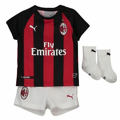 AC Milan Home Baby Kit Shirt Shorts Jersey Suit Soccer Sportswear 2018 19 Infant