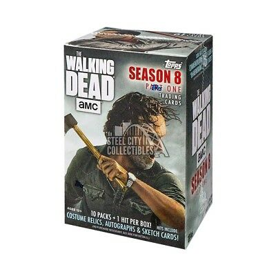 2018 Topps The Walking Dead Season 8 10ct Blaster Box