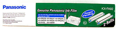Panasonic Film Roll Refill KX-FA92 Genuine 2 per Box New 2 Rolls