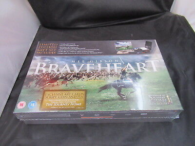 Blu Ray Boxset Braveheart Limited Edition Gift Set New Sealed inc Cards Coin