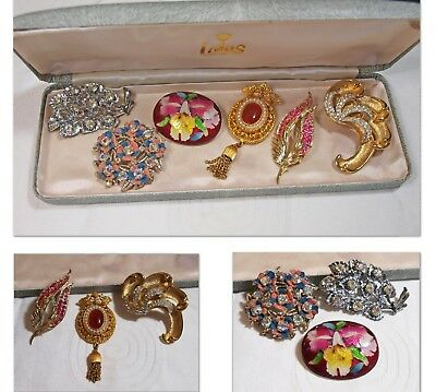 Job Lot of 6 x Vintage Costume Jewellery Brooches