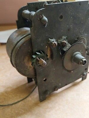 ANTIQUE CLOCK   MOVEMENT PARTS spare or repair