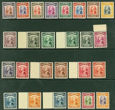 SG 106/25 Sarawak 1934-41. 1c-$10. Fresh scarce unmounted mint set of 26...