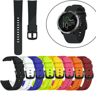 Multi Color Soft Silicone Sport Wirst Watch Band Strap For Forerunner 645 Smooth