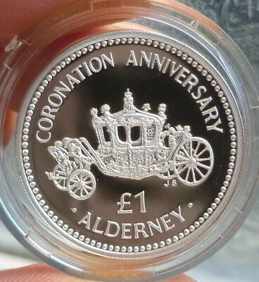 1993 Alderney, Guernsey Silver Proof £1.00 Coin , Excellent